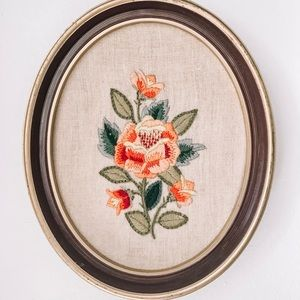 Vintage Embroidered Rose